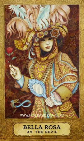 """Bella Rosa: XV. The Devil"" from Chrysalis Tarot by Holly Sierra and Toney Brooks, published by US Games Systems, Inc."
