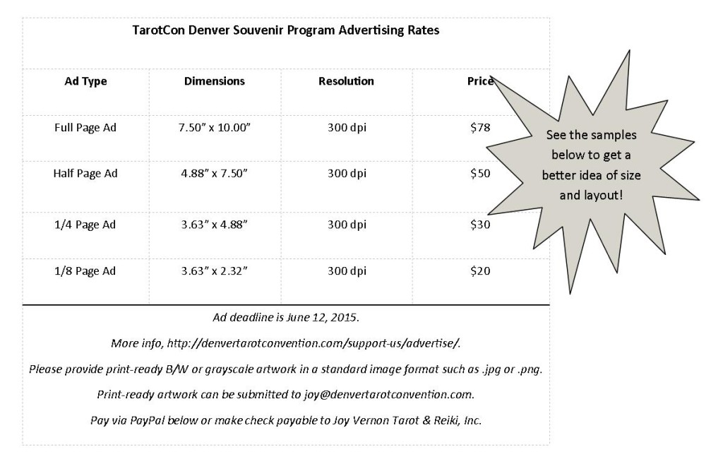 Advertising rates