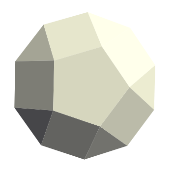 The Pentagonal Gyrobicupola has 20 vertices, 22 faces and 40 edges. The Pentagonal Gyrobicupola contains 10 triangles, 10 quadrilaterals and 2 pentagons.The Pentagonal Gyrobicupola is the 31th Johnson Solid. Polyhedra.org is copyright © 2006 by Honeylocust Media Systems; you are free to copy content under the terms of the GNU Free Documentation License.