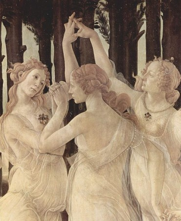 Detail from Primavera by Sandro Botticelli.