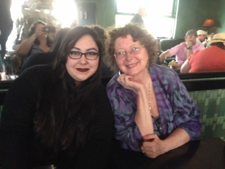 Grace Padilla and Mary K. Greer at Fort Greene for The Fountain Tarot Launch Event June 25, 2015.