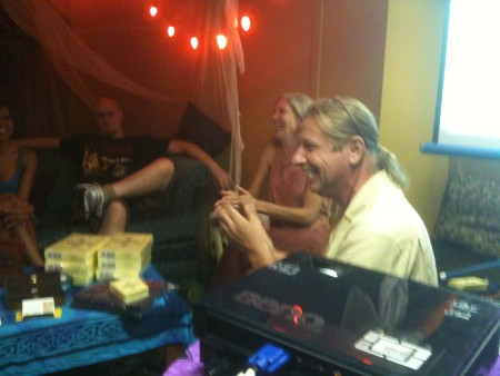 Martien & Teressena Bakens, Creators of The Fifth Tarot at Gypsy House Cafe for a DTM special event, August 11, 2010.