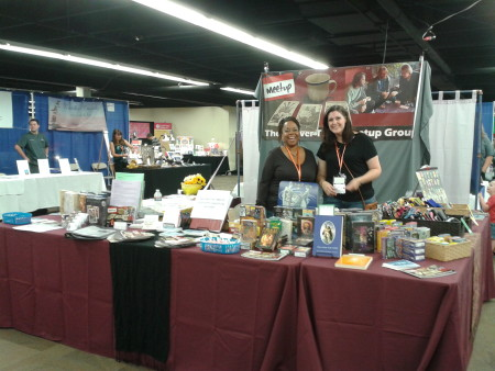 Sherry Shone and Sherry Padilla at the DTM booth at Celebration Fair September 5, 2014.
